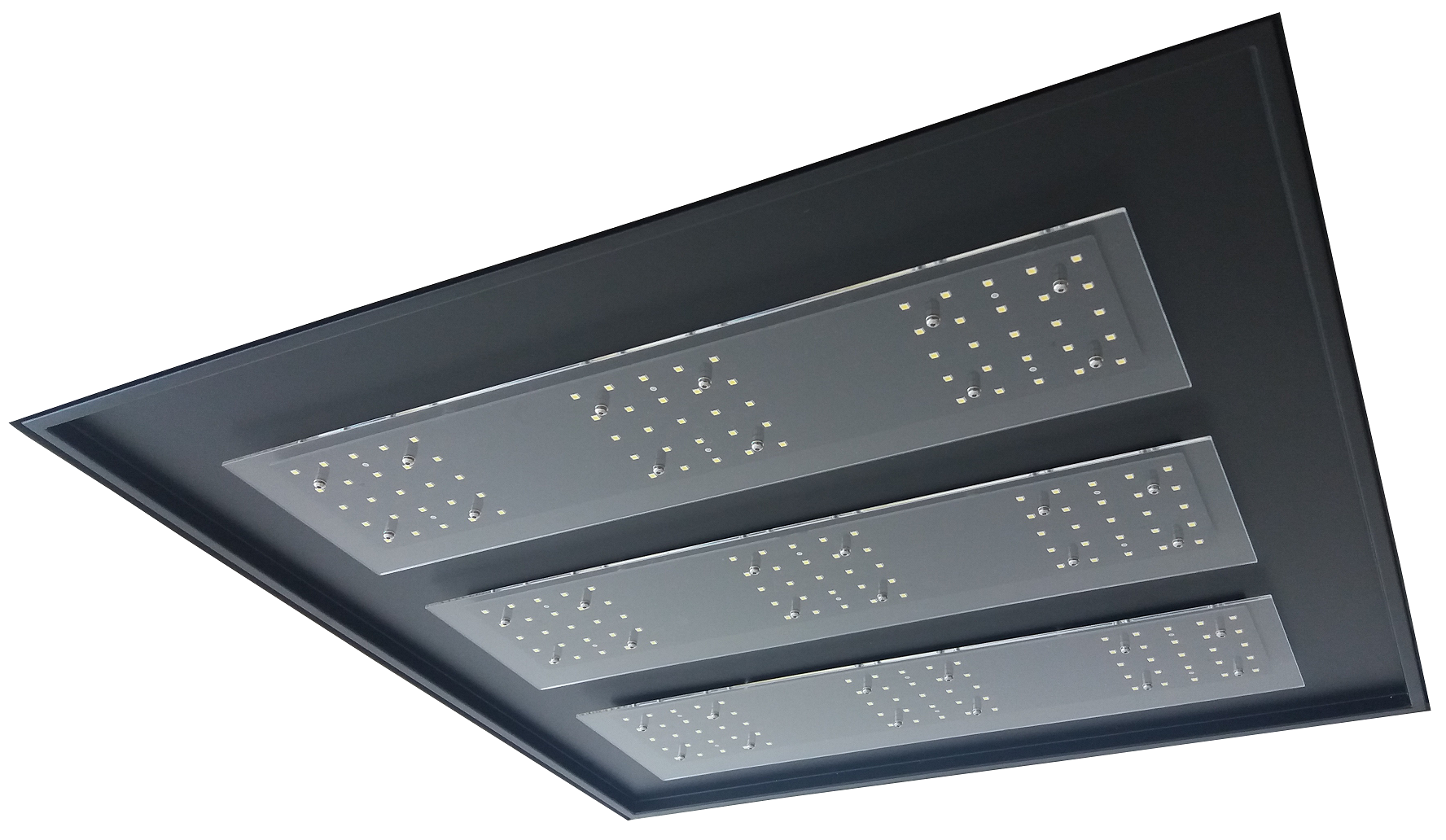 Black LED Recessed Ceiling 60x60 - ECOLUX INCASSO NERO