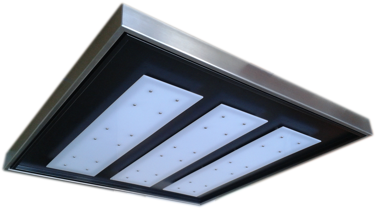 Black LED Ceiling 60x60 - ECOLUX SOFFITTO NERO