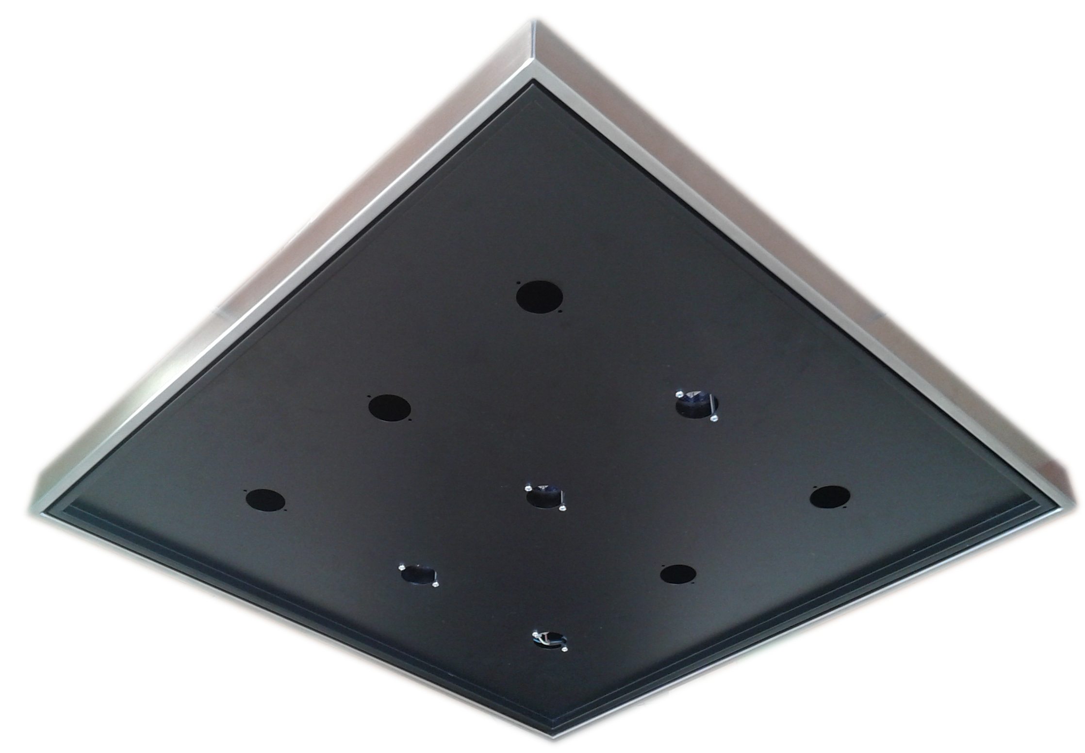 Ceiling Support LED Black 60x60 - ECOLUX SOFFITTO NERO